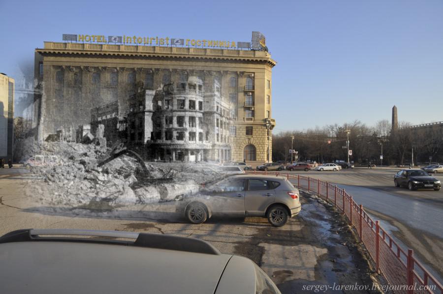 65.Сталинград 1943-Волгоград 2013. Универмаг от руин гостиницы