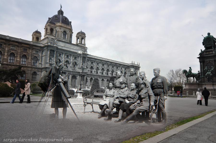 Вена. Фото у памятника Марии Терезе.