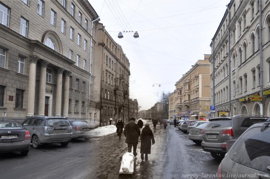Ленинград 1942-2012. ул.Маяковского,10