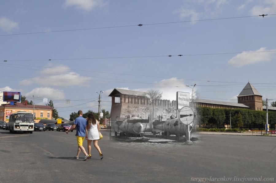 04.Смоленск 1941-2013 площадь Победы бомбы