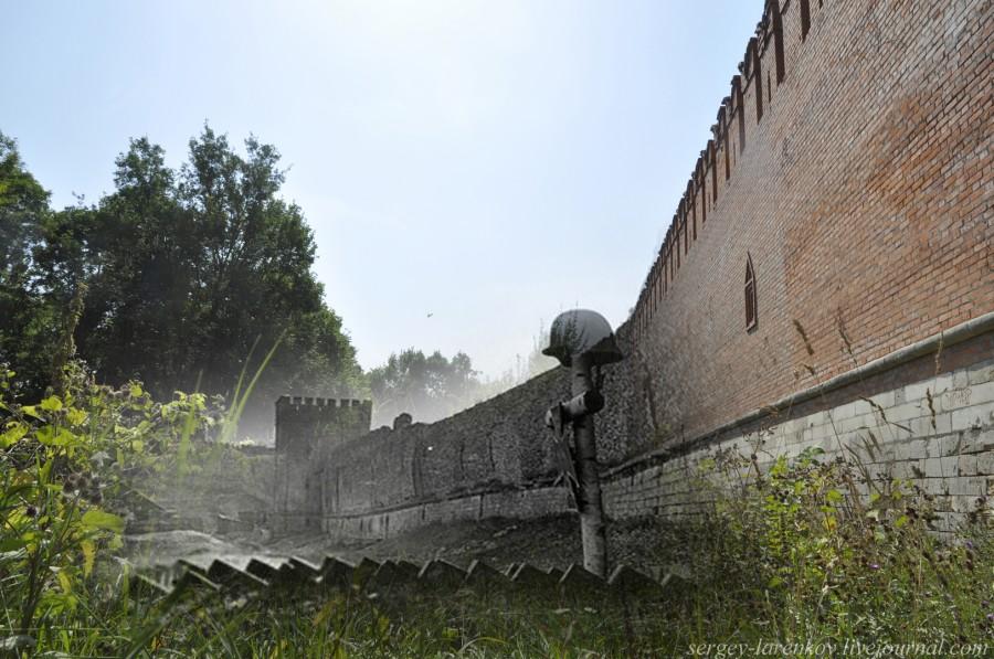 07.Смоленск  1941-2013 немецкая могила у крепостной стены