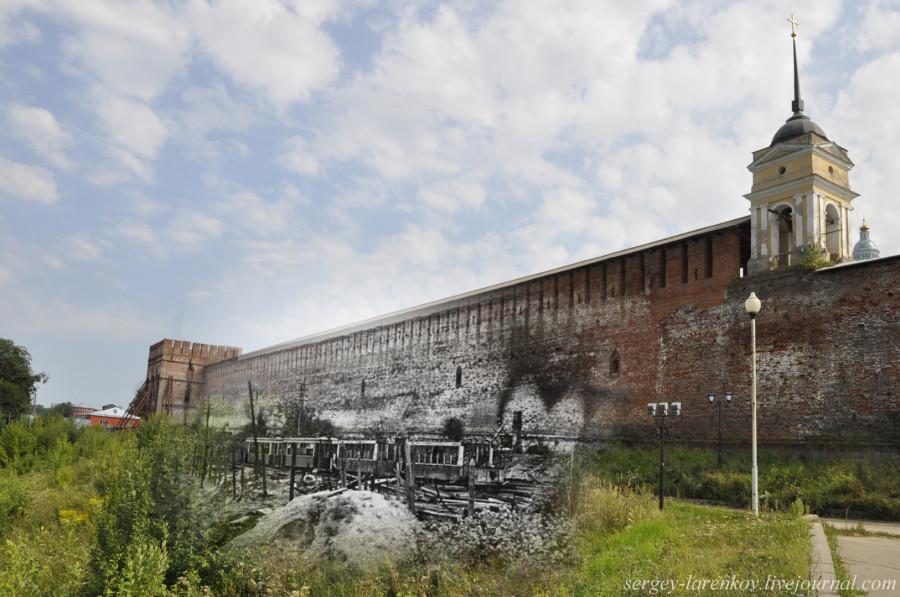 10.Смоленск 1941-2013 трамваи у крепостной стены