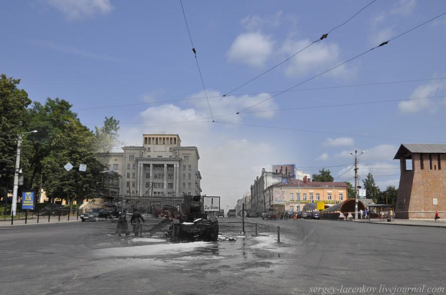 13.Смоленск 1941-2013 площадь Победы подбитый советский танк Т-26