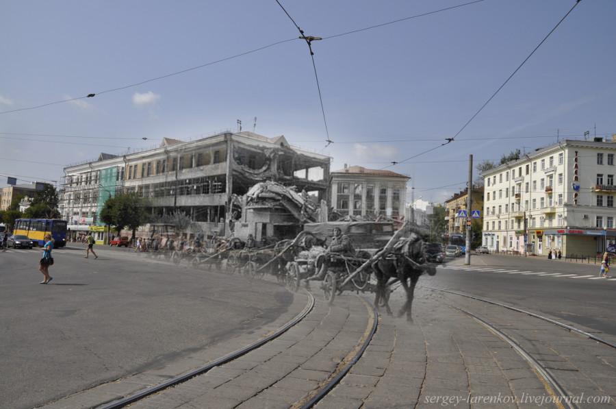 20.Смоленск 1942-2013 обоз на площади Победы