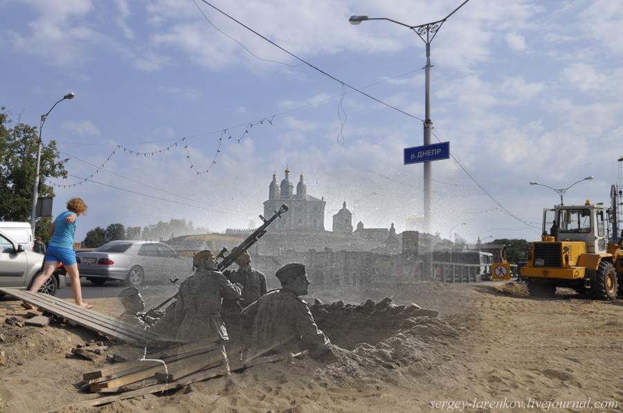 29.Смоленск 1943-2013 Наши зенитчики у моста