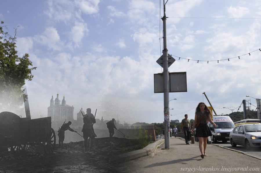 32.Смоленск 1943-2013 Разминирование у моста