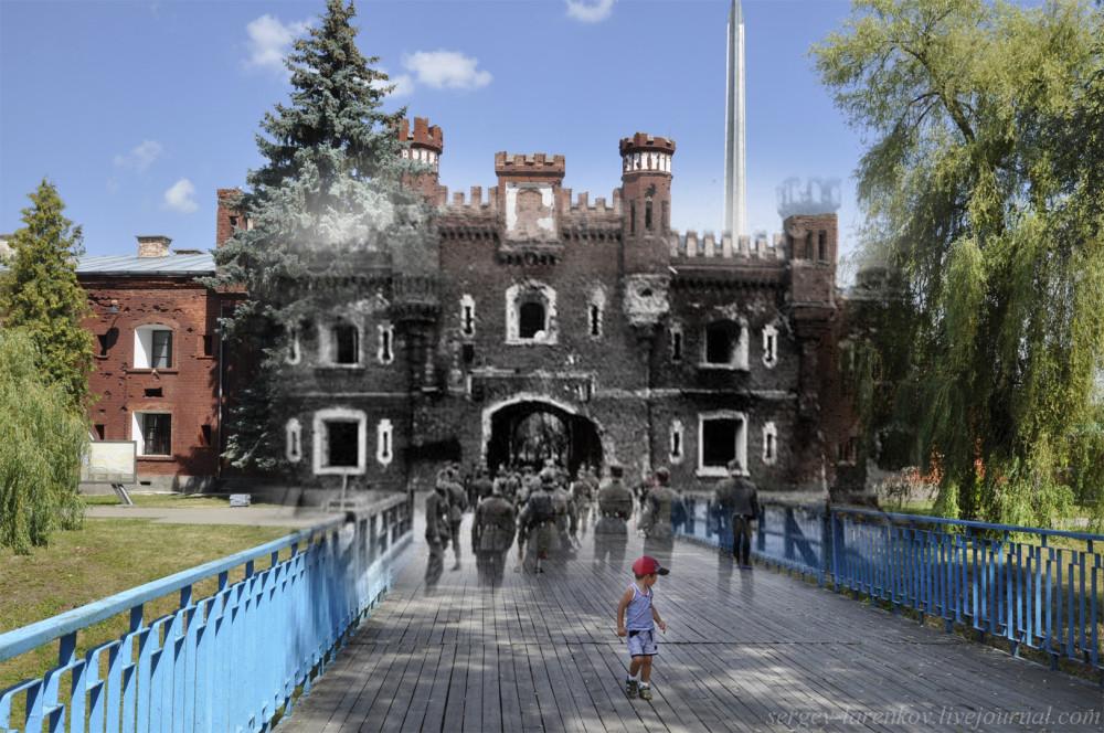 01.Брест 1941-2013 Гитлеровцы на Холмском мосту.