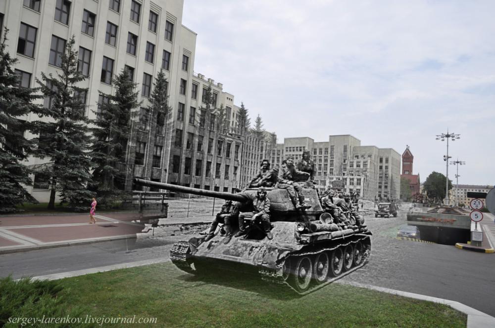 38.Минск 1944-2013 Площадь Независимости Т-34.SL