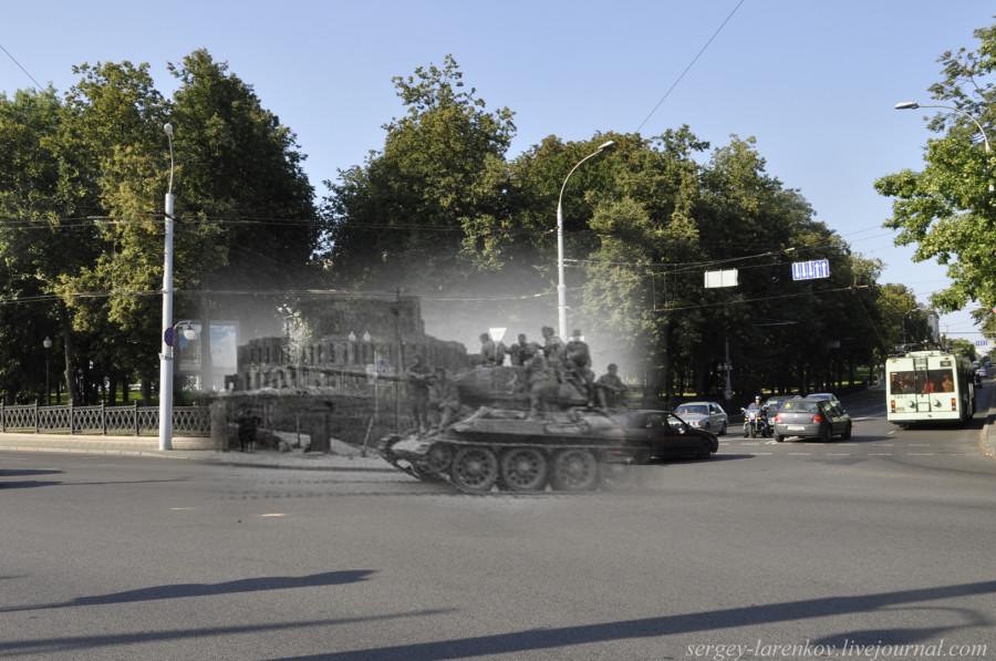 32.Минск 1944-2013 Т-34 на перекрестке ул Куйбышева и Янки КупалыSL