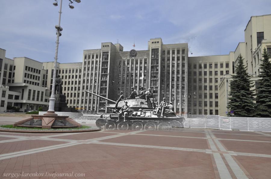 31.Минск 1944-2013 Т-34 на площади НезависимостиSL