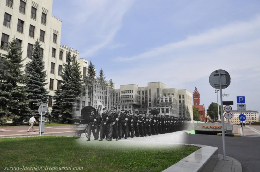 24.Минск 1943-2013 Парад коллаборационистов на площади независимости.SL