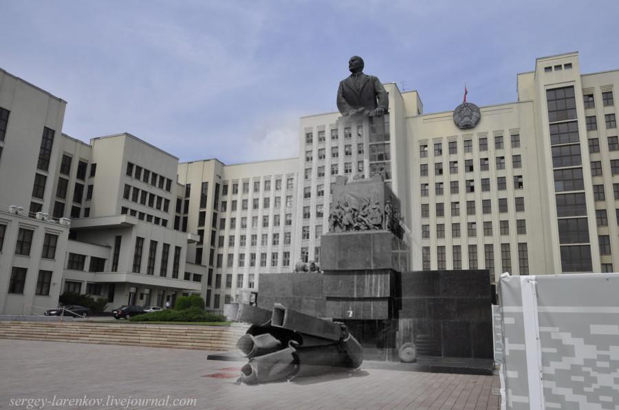 15.Минск 1941-2013 Площадь Свободы. Сброшенный ЛенинSL