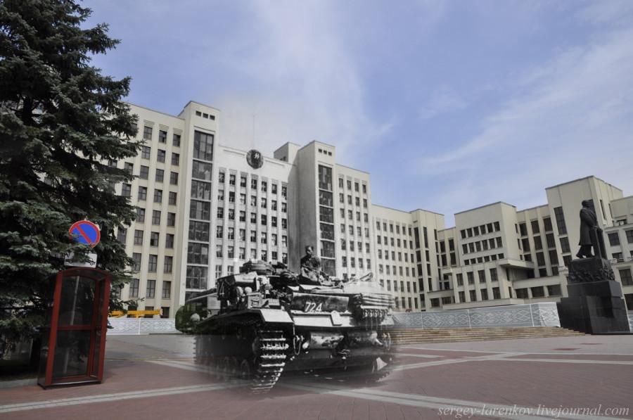 04.Минск 1941-2013 Немецкий танк Т-3 на площади СвободыSL