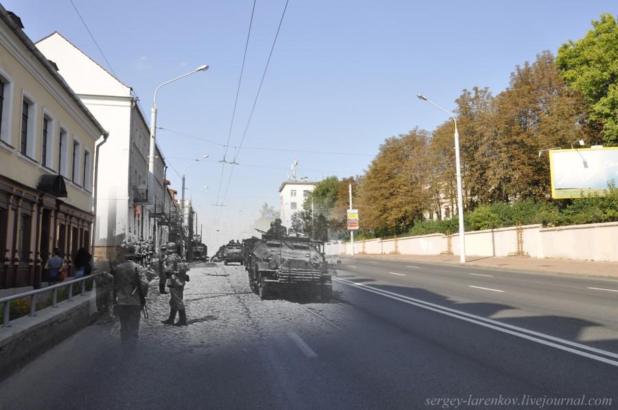 01.Минск 1941-2013 Немецкие войска входят в город по улице БогдановичаSL