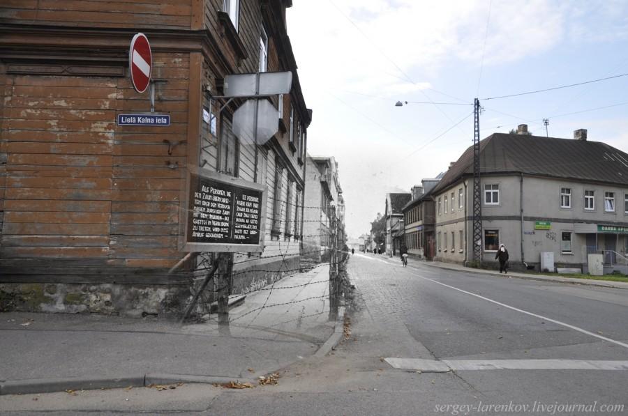 Рига 1941-2013 Гетто Лица, пересекшие забор и вступившие в контакт с жителями гетто, расстреливаются на местеSL