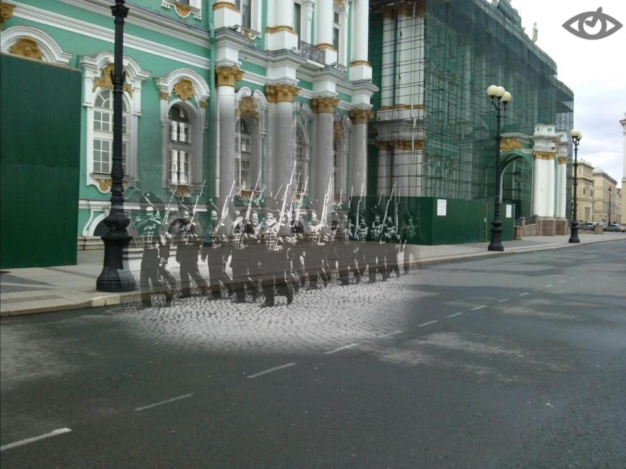 Гренадеры  у Зимнего дворца
