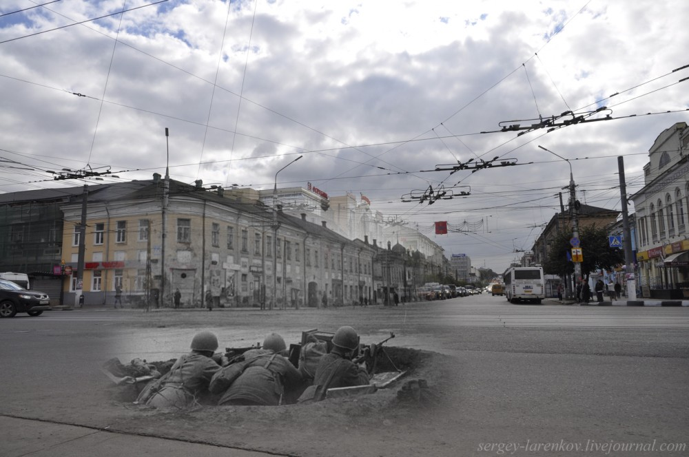 Тула 1941-1945 Бойцы в окопе