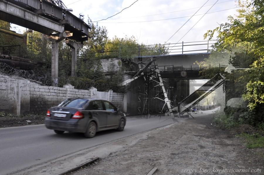 Тула 1941-1945 Взорванный мост Косая гора