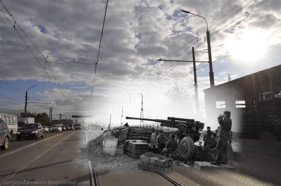 Тула 1941-1945 Зенитка на Чулковском мосту