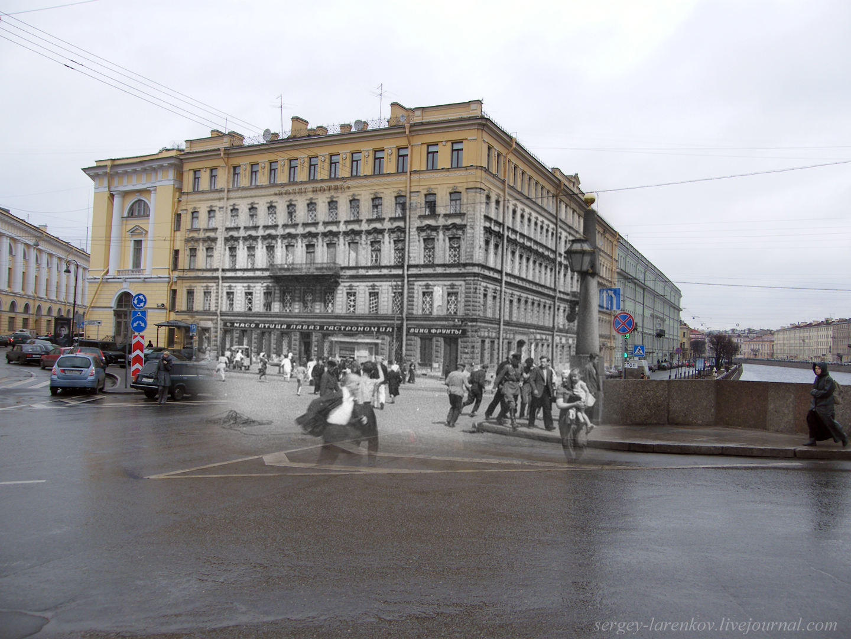 037.Ленинград 1941-2009 Площадь Ломоносова. Воздушная тревога