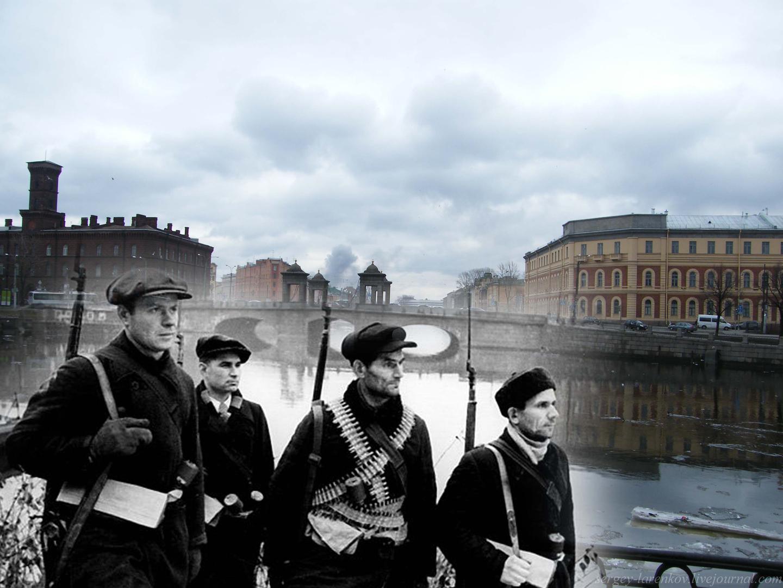 049.Ленинград 1941-2009 Адмиралтейские верфи. Ополченцы у Старокалинкина моста