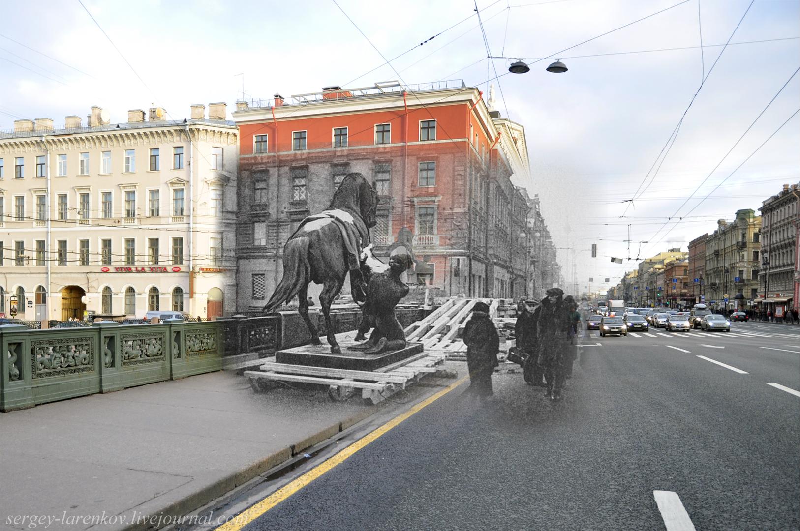 232.Ленинград 1941-2013. Снятие коней Клодта с Аничкова моста