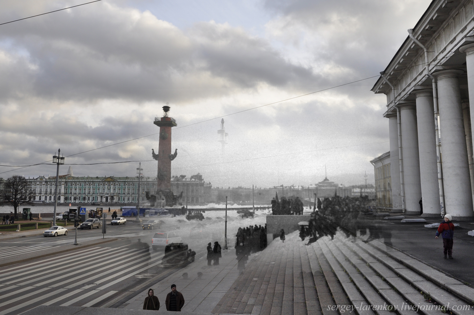 261.Ленинград 1944-2013 Перед салютом на Стрелке ВО