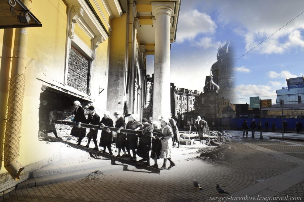 272.Ленинград 1941-2013. Сенная,  Гауптвахта.sL