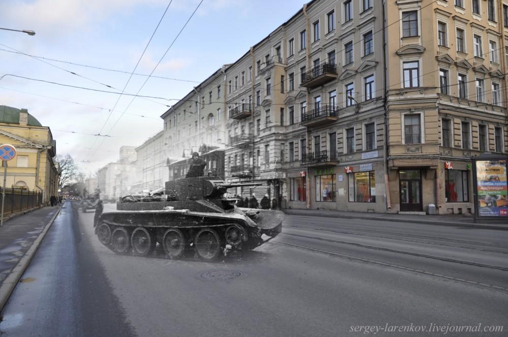 279. Ленинград 1942-2013. Танк на улSL