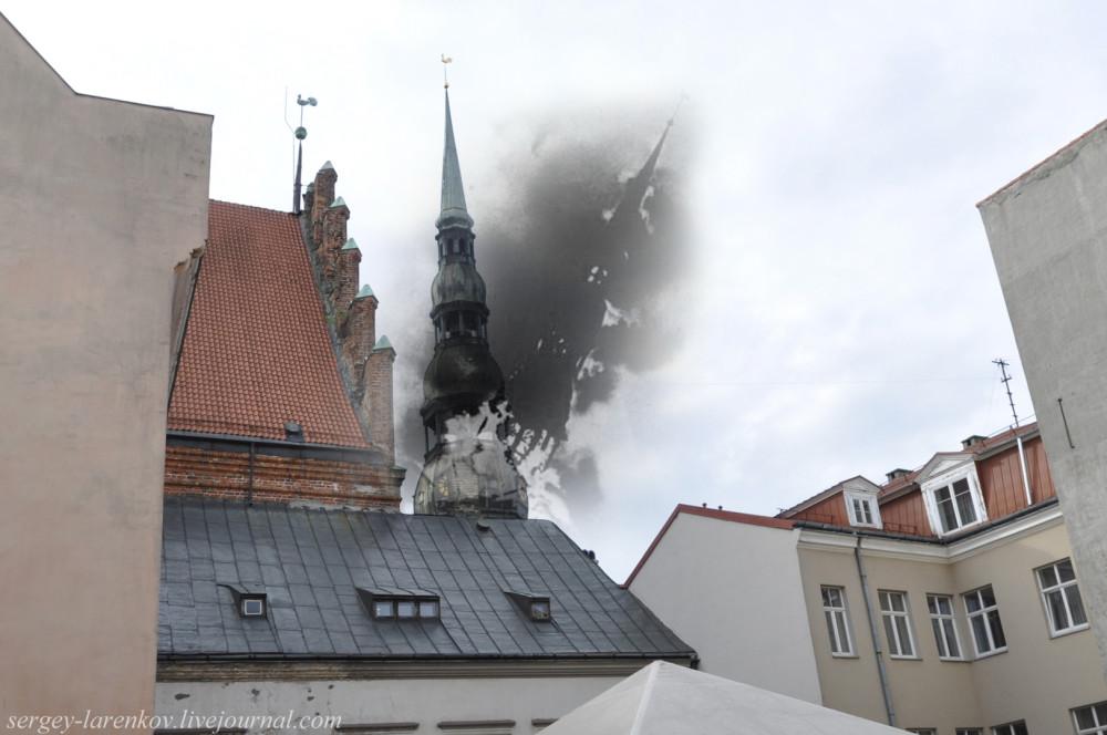 04.Рига 1941-2013 Пожар и разрушение церкови Святого Петра SL