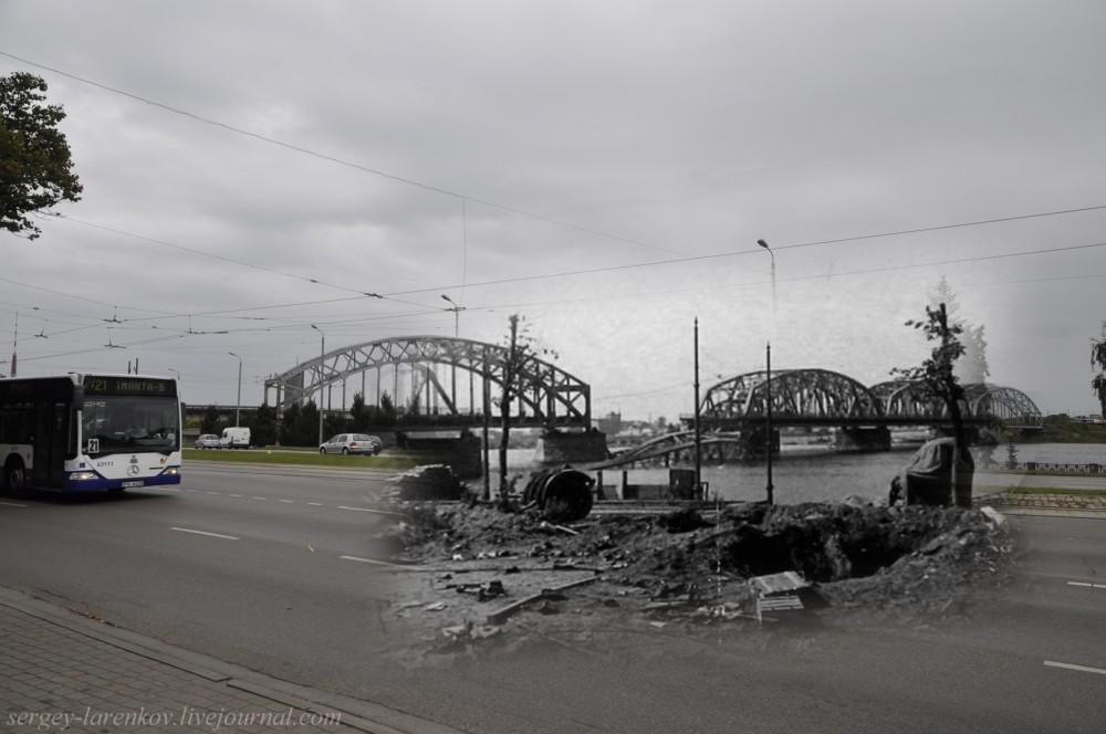 09.Рига 1941-2013 взорванный железнодорожный мост SL