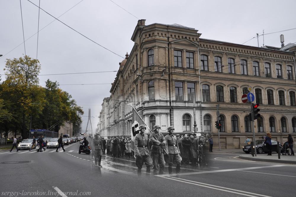 18.Рига  1941-2013 парад немцев улица Кришьяна Вальдемара SL