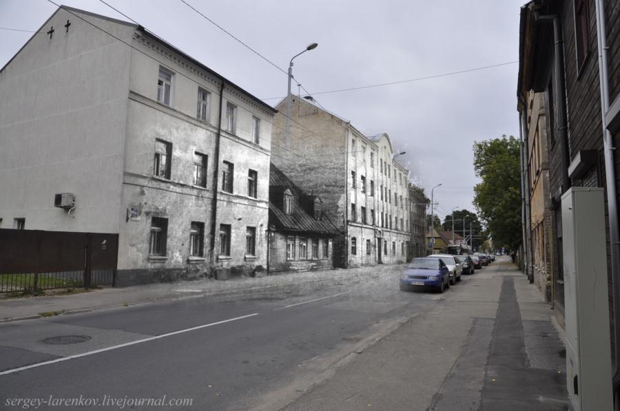 24.Рига 1941-2013 Здание комендатуры в гетто на ул Лудзас SL