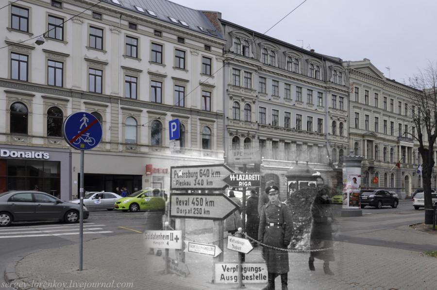 27.Рига  1942-2013 указатели на углу ул.Бривибас и бульвара Зигфрида Анны Мейеровица SL