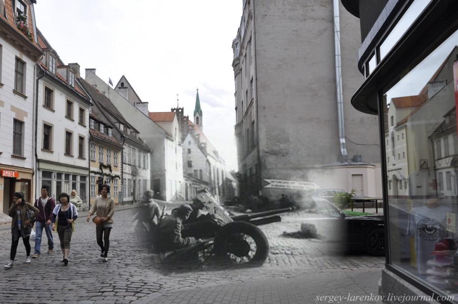 31. Рига 1944-2013. Освобождение города от нацистов. Советские артиллеристы на ул Скарню SL