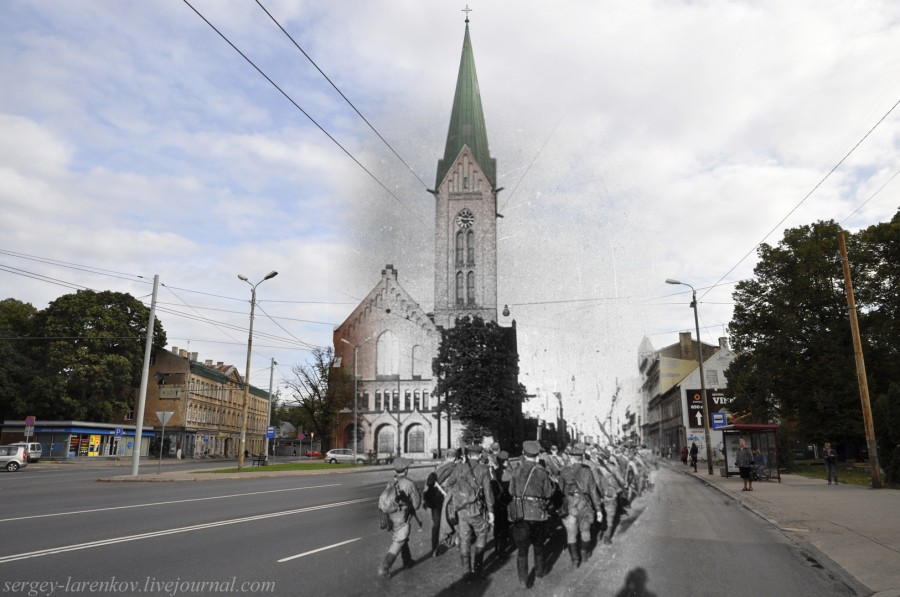 37.Рига 1944-2013 советские войска у Церкви Святого Петра SL