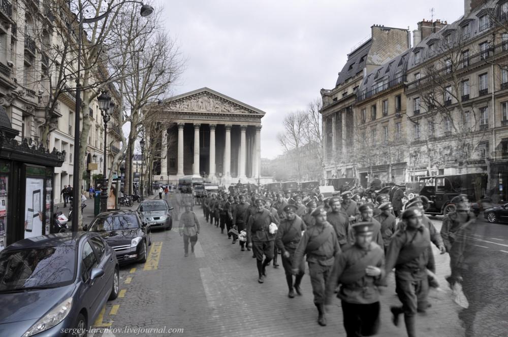 13.Париж 1916-2013. Русский экспедиционный корпус на Rue Royale.jpg
