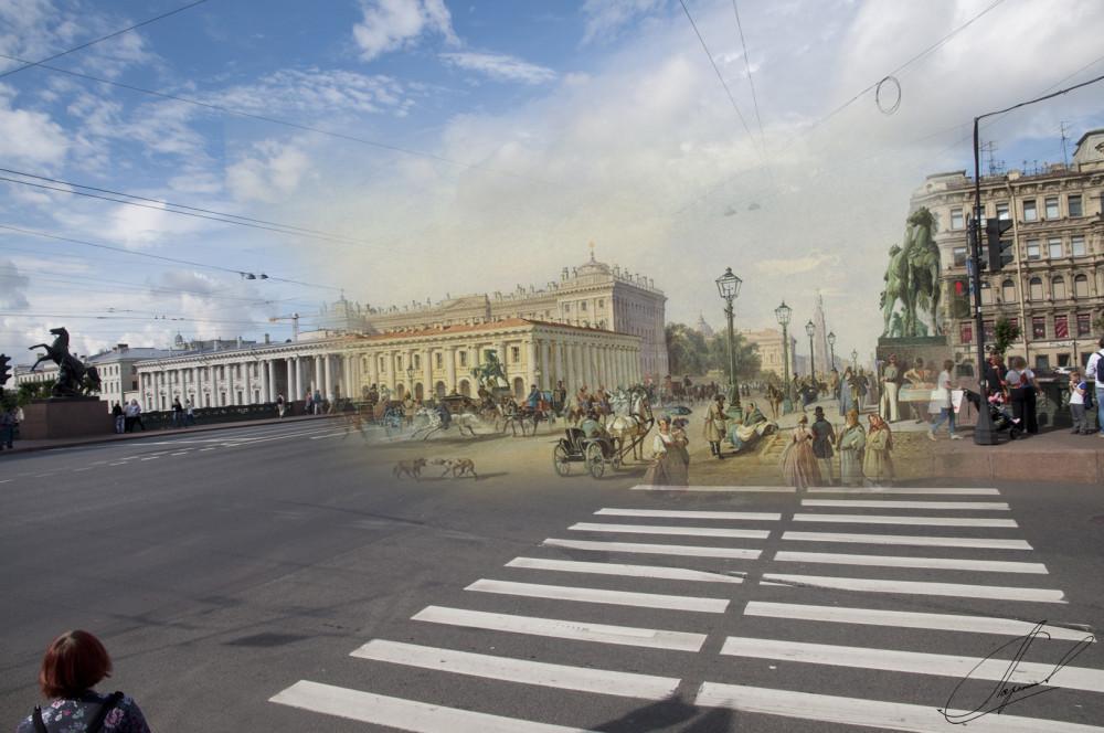 04.Аничков мост.Бонштедт, Людовик Франц Карл,1847