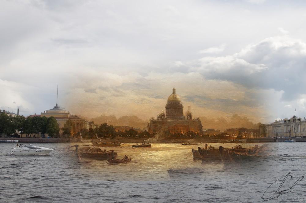 16.Вид Санкт-Петербурга в сумерки,Беггров Александр Карлович, 1911