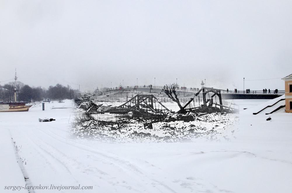 005.Великий Новгород 1944-2015 Взорванный мост через Волхов