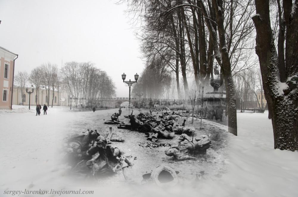 008.Великий Новгород 1944-2015 Разрушенный памятник Тысячелетию России
