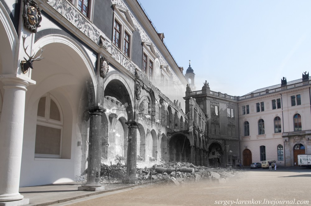004.Дрезден 1945-2014 Конюшенный двор Штальхоф DerStallhof
