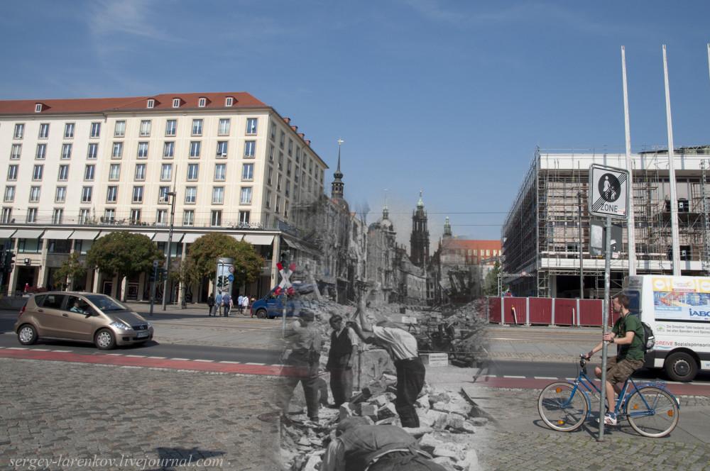 013.Дрезден 1945-2014 Рыночная площадь Altmarkt