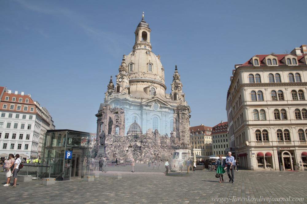 015.Дрезден 1950е-2014 Церковь Фрауэнкирхе Frauenkirche
