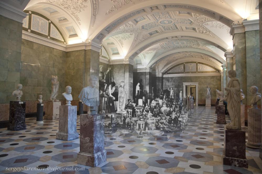 311,Ленинград 1941-Санкт-Петербург 2015 Эрмитаж. Зал Юпитера (Зал 107)
