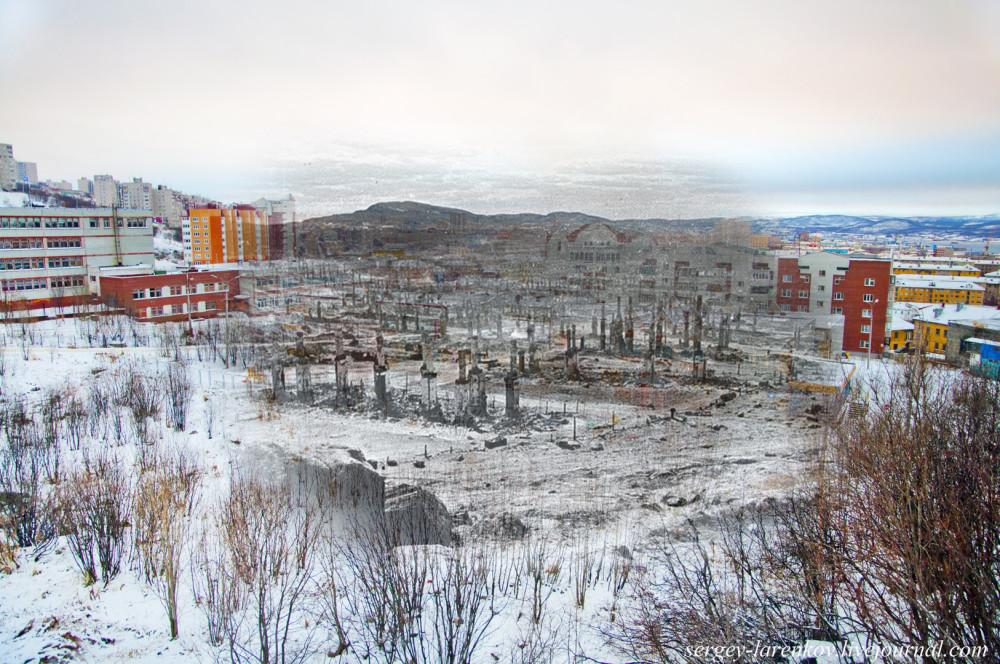 009.Мурманск.1942-2014 Печные трубы сгоревшего города sl.jpg