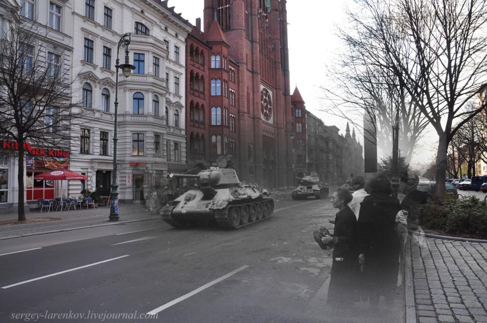 004.Берлин 1945-2010 Советские танки на ул. Мерингдамм - Mehringdamm.jpg