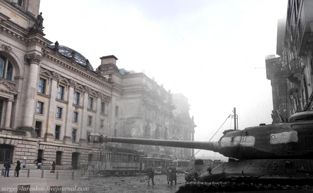 009.Берлин 1945-2010 Танк ИС-2 у Рейхстага.jpg
