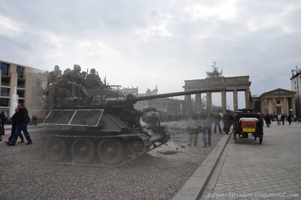 021.Берлин 1945-2010 Танк на Паризер платц.jpg