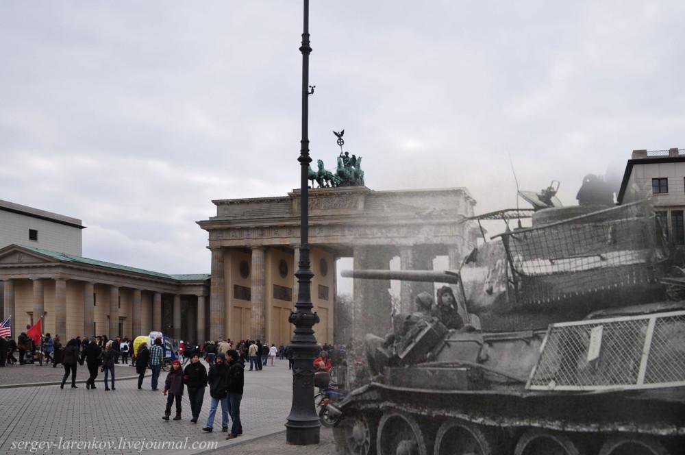 022.Берлин 1945-2010 Танк на Паризер платц.jpg